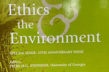 Ethics & the Environment 25th anniversary